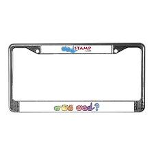 Got ASL? Pastel License Plate Frame