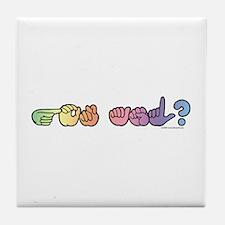 Got ASL? Pastel Tile Coaster