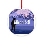 Micah 6:8 Round Keepsake