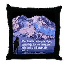 Micah 6:8 Throw Pillow