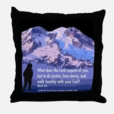 Micah 6:8 Throw Pillow