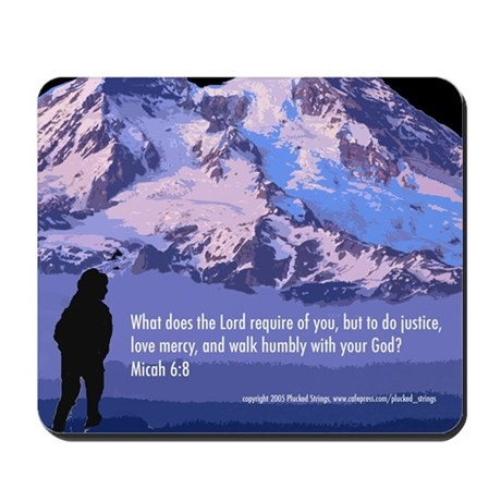 Micah 6:8 Mousepad