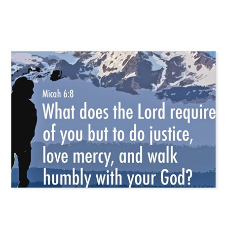 Micah 6:8 All Occasion Postcards (8)