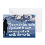 Micah 6:8 Greeting Cards (Pk of 10)
