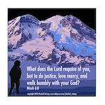 Micah 6:8 Tile Coaster