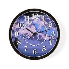 Micah 6:8 Wall Clock