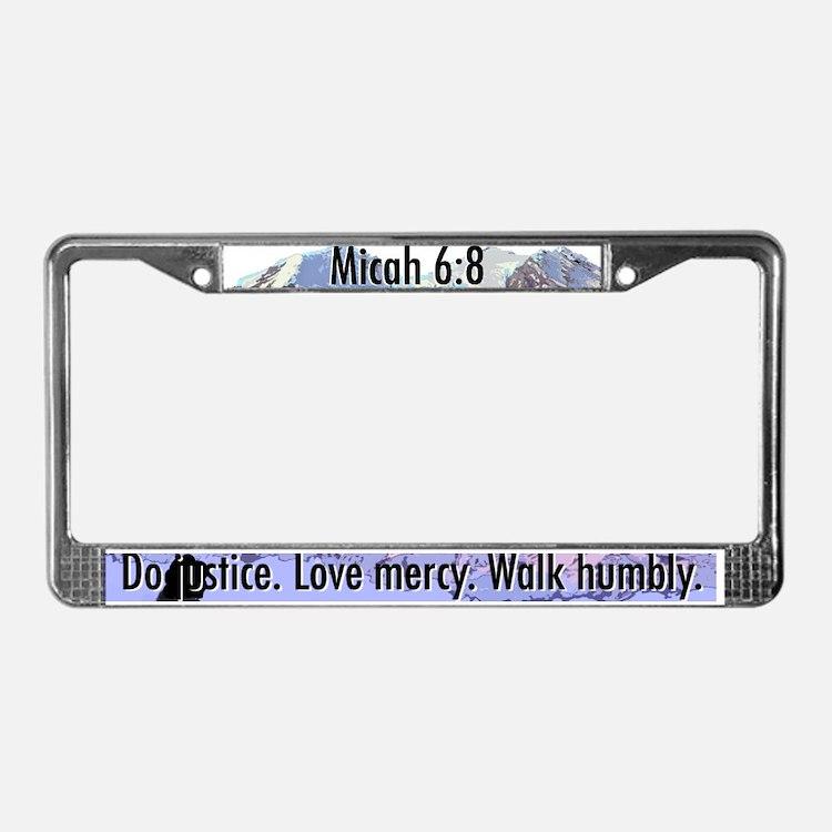 Micah 6:8 License Plate Frame