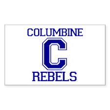 Columbine High School Rebels Rectangle Sticker