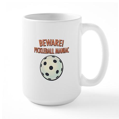 Beware! Pickleball Maniac Large Mug