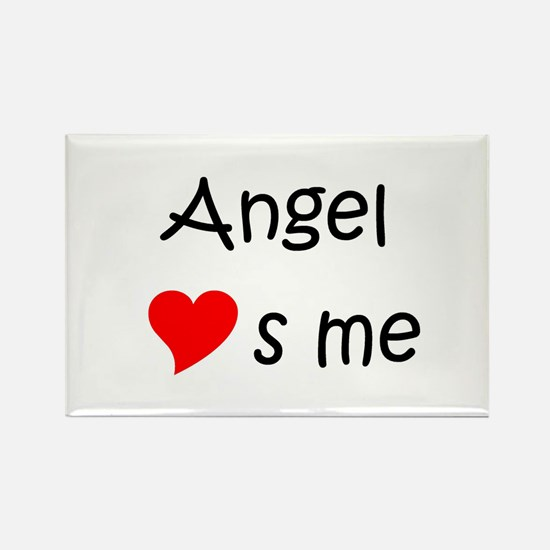 Cute Angel s Rectangle Magnet