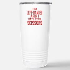 Left Handed Scissors Travel Mug