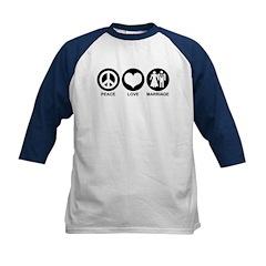 Peace Love Marriage Kids Baseball Jersey