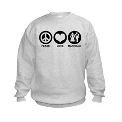 Peace Love Marriage Sweatshirt