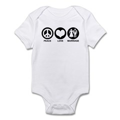 Peace Love Marriage Infant Bodysuit