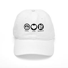 Peace Love Marriage Baseball Cap