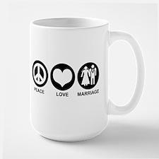 Peace Love Marriage Mug