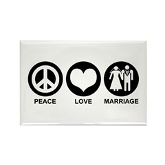 Peace Love Marriage Rectangle Magnet