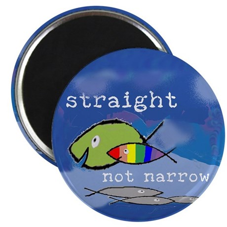 """Straight But Not Narrow 2.25"""" Magnet (100 pack)"""