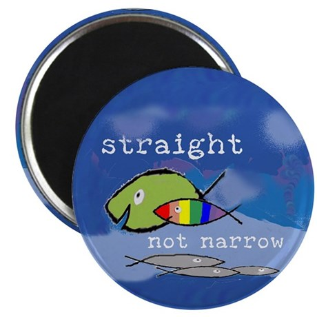 """Straight But Not Narrow 2.25"""" Magnet (10 pack)"""