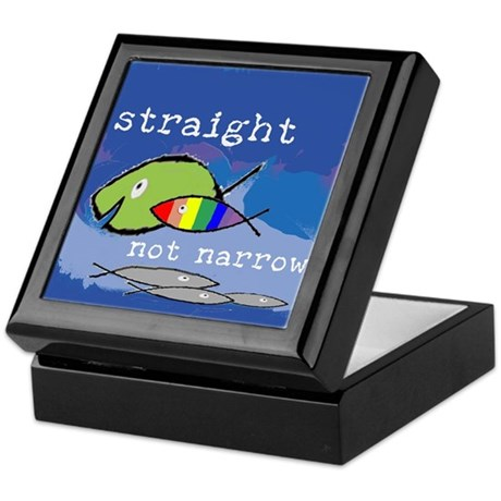 Straight But Not Narrow Keepsake Box
