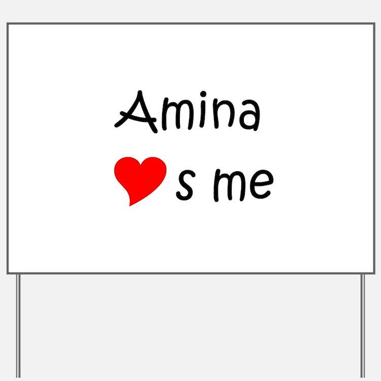 Cute Amina Yard Sign