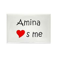 Cool Amina Rectangle Magnet