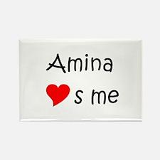 Cute Amina Rectangle Magnet