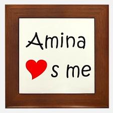 Cute Amina Framed Tile