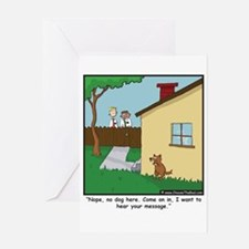 Dog Trap Greeting Card