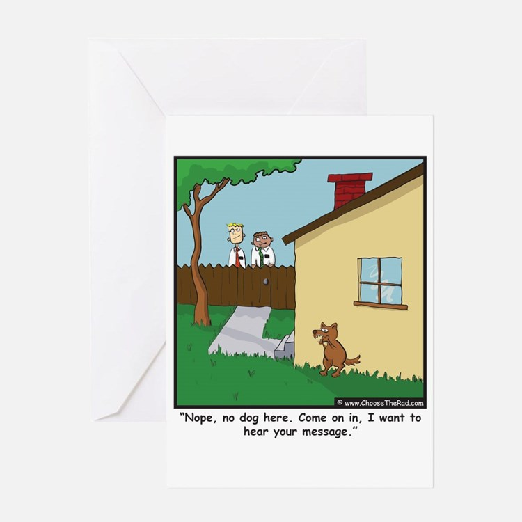 Dog Trap Greeting Card