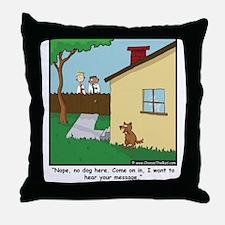 Dog Trap Throw Pillow