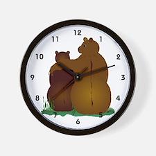Warm & Fuzzy Bear Hug Wall Clock