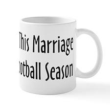 Football Season Warning Small Mugs