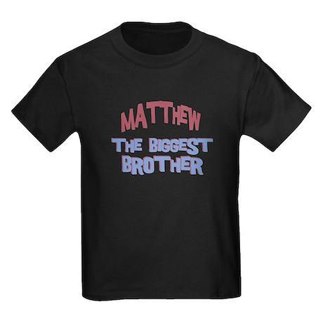 Matthew - The Biggest Brother Kids Dark T-Shirt