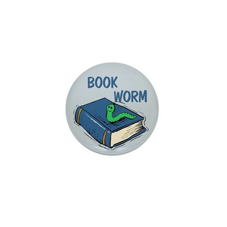 Book Worm Mini Button (100 pack)