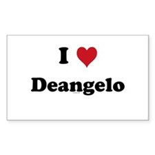 I love Deangelo Rectangle Decal