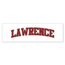 LAWRENCE Design Bumper Bumper Sticker