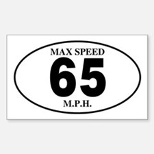 Speed Limits Rectangle Decal