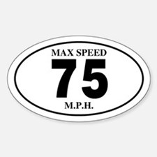 75 Oval Decal