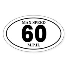 60 Oval Bumper Stickers