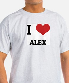 I Love Alex Ash Grey T-Shirt