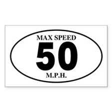 50 Rectangle Bumper Stickers