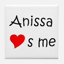 Funny Anissa Tile Coaster