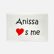 Cool Anissa Rectangle Magnet
