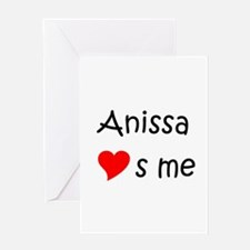Funny Anissa Greeting Card