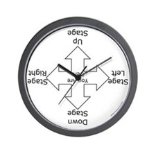 Stage Directions Wall Clock