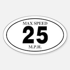 25 Oval Sticker (10 pk)