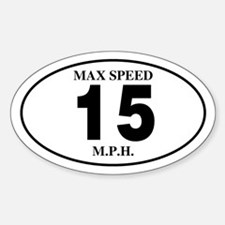 15 Oval Decal