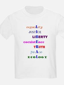 Koy's Logo + LIBERAL Kids T-Shirt