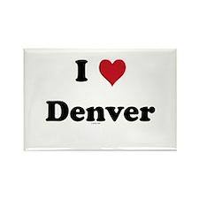 I love Denver Rectangle Magnet